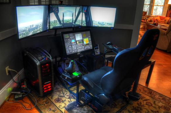 Volair Sim - 4th monitor example